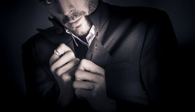 Stylish man wearing mens fashion accessories Royalty Free Stock Photography