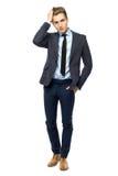Stylish man wearing suit Stock Photography