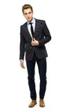 Stylish man wearing suit Stock Images