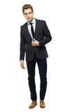 Stylish man wearing suit Stock Images