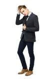 Stylish man wearing suit Royalty Free Stock Photos