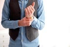 Stylish man wears watches. Stock Image