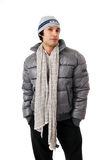 Stylish man in winter clothes Royalty Free Stock Photos