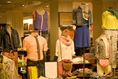 Stylish man and woman clothing Stock Photography