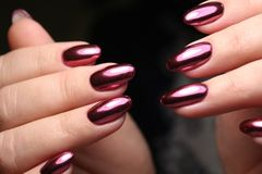 stylish manicure with a design royalty free stock photography