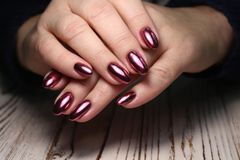 stylish manicure with a design royalty free stock photo