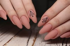 stylish manicure with a design royalty free stock images