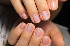 Stylish manicure nails royalty free stock images