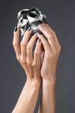Stylish manicure in shades of gray female elegant Stock Image