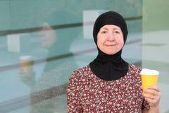 Stylish mature woman wearing a burka