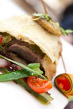 Stylish meat kebab royalty free stock photo