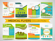 Stylish Medical Flyers, Templates or Brochures collection. Royalty Free Stock Photography