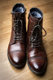 Stylish men's boots Stock Photos
