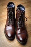 Stylish men's boots Stock Photos