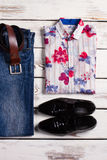 Stylish men's clothing. Design set of men's clothing Stock Photography