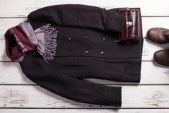 Stylish men's clothing. Male wardrobe. Stylish men's clothing. Classic style Stock Image
