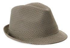Stylish men's hat isolated on the white background Stock Photography