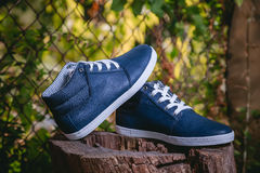 Stylish men's shoes Royalty Free Stock Images