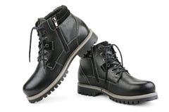 Stylish men's shoes. Isolated on white Royalty Free Stock Photo