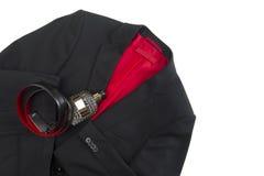 Stylish mens jacket and matching leather belt Stock Image