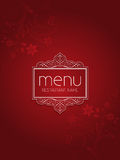 Stylish floral menu design Stock Images