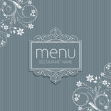Stylish menu design Stock Image