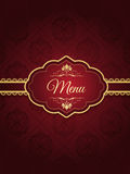 Stylish menu design Stock Photography