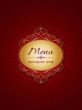 Stylish menu design. Background with a decorative label Royalty Free Stock Photography