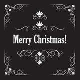 Stylish Merry Christmas card. Stylish Merry Christmas greeting card. Vector illustration Royalty Free Stock Photo