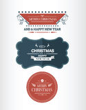 Stylish merry christmas message banners vector Stock Photos