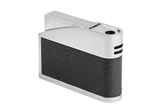 The stylish metal lighter with leather trim Stock Images