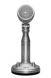 Stylish metal microphone isolated with clipping path Royalty Free Stock Photo