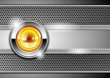 Stylish metallic background Stock Images