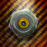 Stylish metallic loudspeaker Royalty Free Stock Image