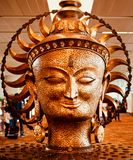 Stylish metallic monuments of Hindu religious God unique photograph. A large metal made Hindu religious God statue object unique royalty free images stock images