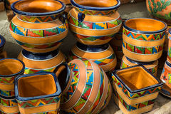 Stylish Mexican Pottery Royalty Free Stock Image