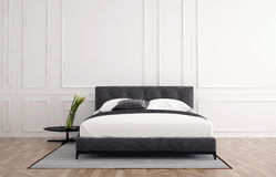 Stylish minimalist bedroom interior Royalty Free Stock Image