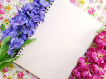 Stylish mock up with flowers to display your artworks Stock Photo