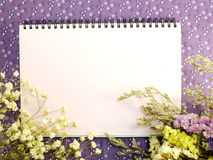 Stylish mock up with flowers to display your artworks Stock Photography