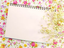Stylish mock up with flowers to display your artworks Stock Image