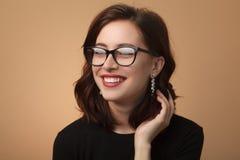 Stylish model in elegant glasses Royalty Free Stock Image
