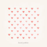Stylish modern art heart pattern background vector Stock Image
