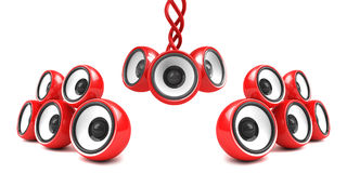 Stylish modern audio system Stock Image