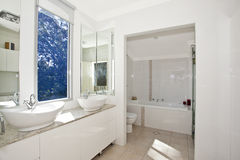 Stylish modern bathoom stock photo