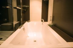 Stylish modern bathtub Stock Photography