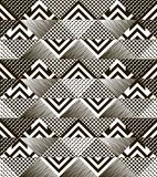Stylish modern black and white patchwork seamless pattern Stock Photography