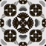 Stylish modern black and white seamless pattern with elements of Stock Photo