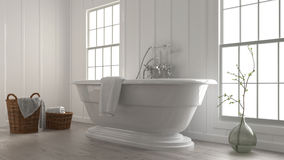 Stylish modern boat-shaped bathtub Stock Images