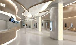 Stylish modern building lobby Stock Photo