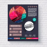 Stylish modern Business Project infographic Royalty Free Stock Photo